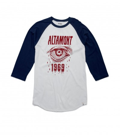 Bleeding Eye Raglan navy/white