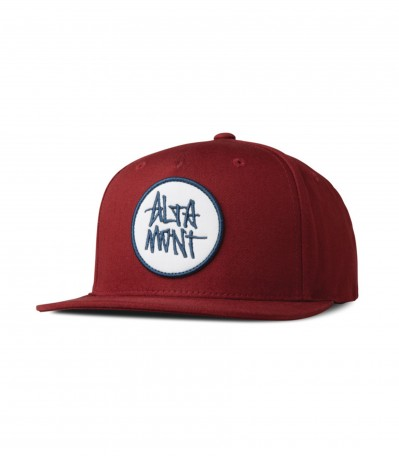 Stacked Snapback oxblood