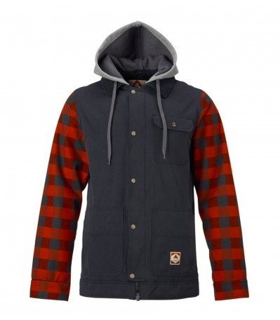 Dunmore Jacket true black buffalo plaid