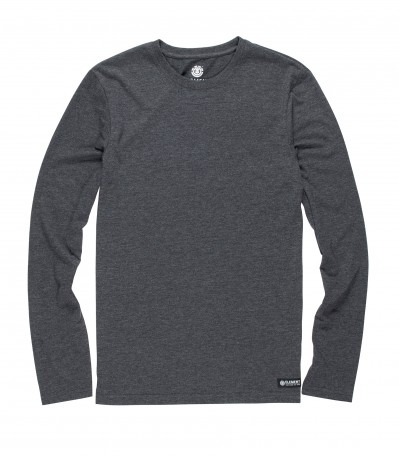 Basic Crew LS charcoal heather