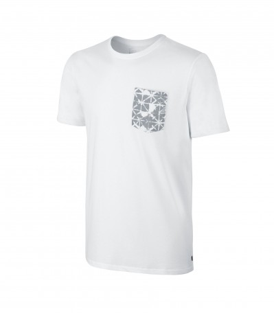 Dri-FIT Geo Pocket Tee white