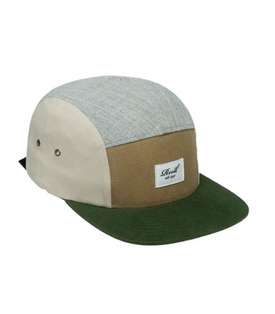 Multicolor 5 Panel Green & Sand